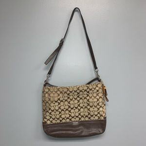 Coach crossbody purse in brown C-print